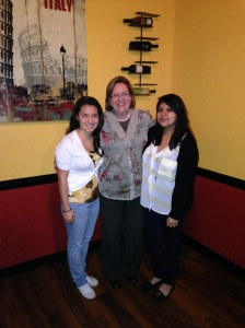 (From Left): Andrea, Mrs. Sandy Mercer (SVSLI High School Coordinator, Dulce (Andrea's menthe)